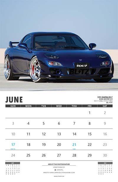 June Car Calendar Wall Calendars Pinterest Office - Sports cars calendar 2018