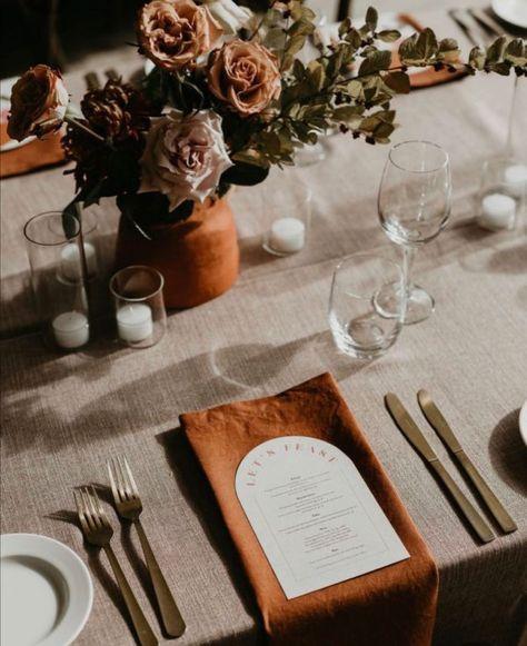 "StyleStatement on Instagram: ""Autumn wedding🍁🍂 #weddingtable #autumnwedding"""