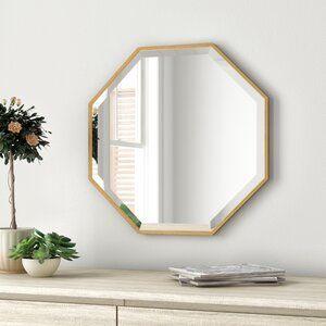 Zipcode Design Morganton Modern Contemporary Beveled Accent Mirror Wayfair Scandinavian Design Living Room Round Mirror Decor Home Decor
