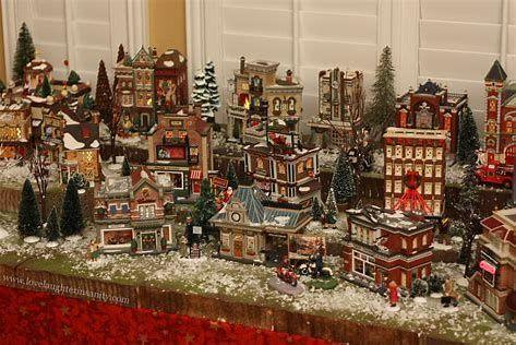 Mini Christmas Village Display.Image Result For Christmas Village Ideas Holiday Display