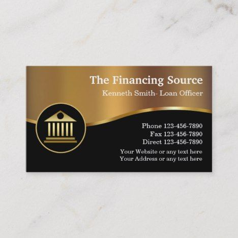 Loan Officer Business Cards