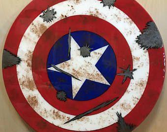 Wooden Captain America Shield A Christmas 2018 Captain America