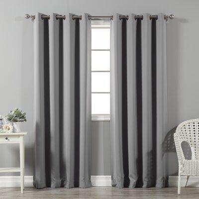 Blackout Thermal Grommet Curtain Panels, Antique Bronze Grommet Curtains