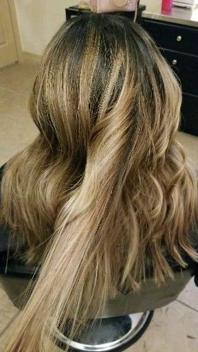 Long Layers With Highlights Lavish Salon Round Rock Tx In 2020 Brown Ombre Hair Honey Brown Hair Hair Styles