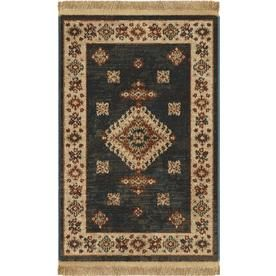 Allen Roth Allen Roth Denim Indoor Southwestern Throw Rug Common 2 X 3 Actual 1 11 Ft W X 3 3 Ft L Throw Rugs Rugs Allen Roth