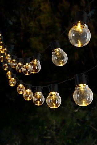Buy Set Of 15 Solar Festoon Line Lights From The Next Uk Online Shop Festoon Lighting Festoon Solar Wall Lights