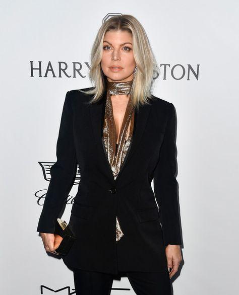 Singer Fergie attends the amfAR Gala.