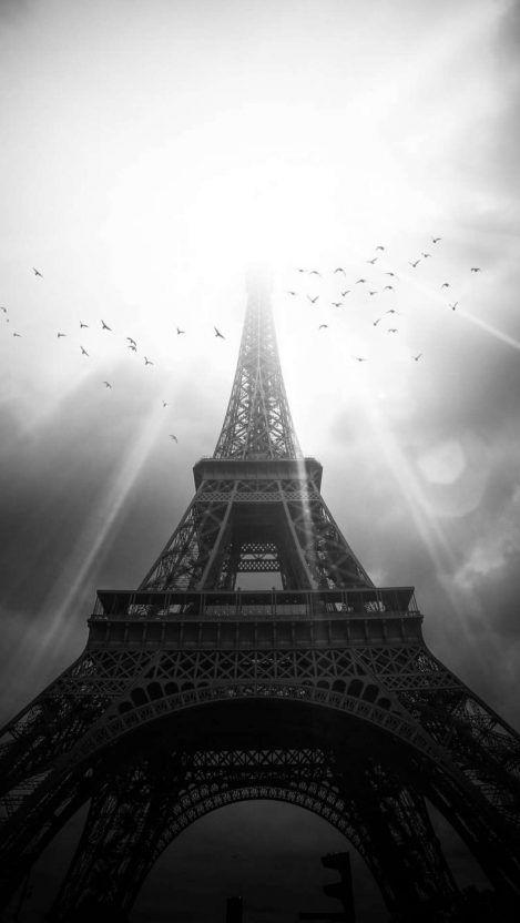 Monochrome Eiffel Tower Iphone Wallpaper Joker Wallpapers Iphone Wallpaper Images Smartphone Wallpaper Black wallpaper iphone eiffel tower