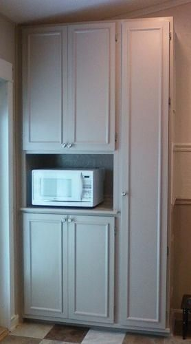 Image Result For Microwave In Pantry Cabinet Kitchen