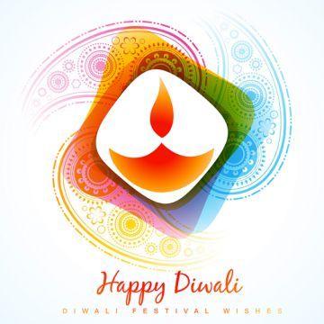 Colorful Diwali Diya Artistic Aum Background Png And