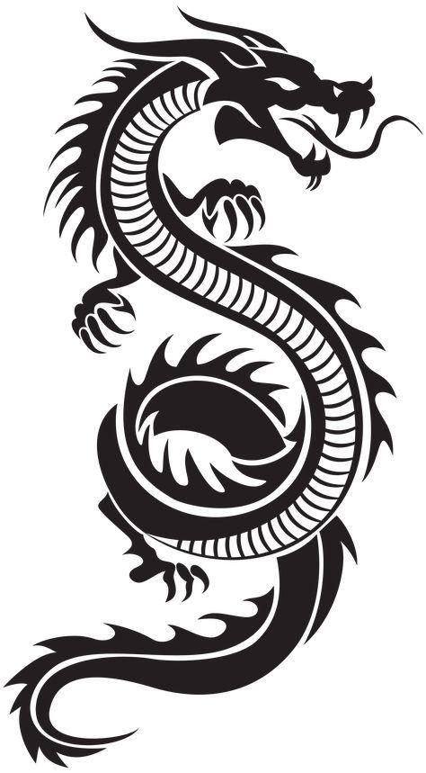 Year Of The Dragon Tribal Dragon Tattoos Small Dragon Tattoos Dragon Tattoo Drawing