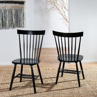 Safavieh Country Classic Dining Country Lifestyle Spindle Back Black Dining Chairs In 2021 Black Dining Chairs Spindle Dining Chair Dining Chairs