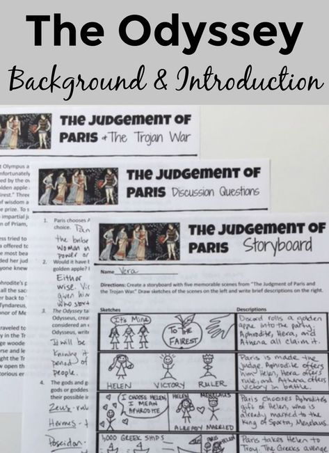 The Odyssey Background and Introduction Activity | Teaching English ...
