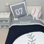 Cute baseball themed bedding