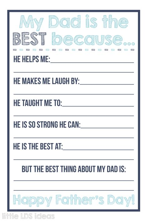 Father's Day Medal Gift Idea: Tutorial and PrintableLittle LDS Ideas