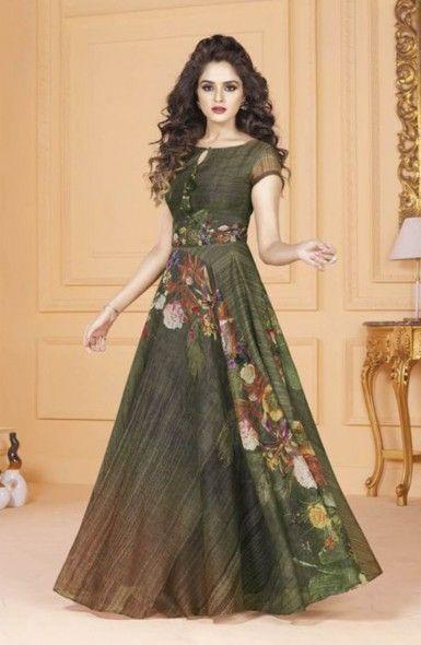 4d391f0de6 Party Wear Digital Print Gown Wholesale Collection Designer gowns ...