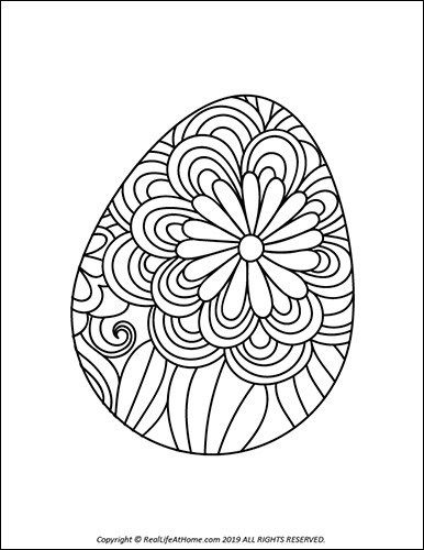 Easter Egg Coloring Pages Free Printable Easter Egg Coloring Book Coloring Easter Eggs Coloring Eggs Easter Egg Coloring Pages