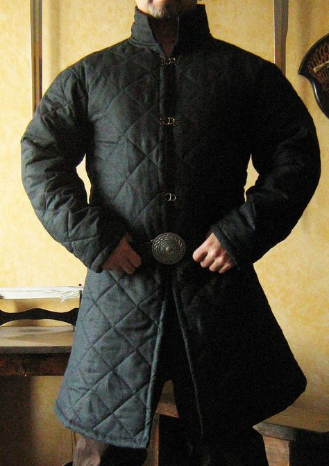 Medieval Celtic Viking Armor Padded Gambeson Long Sleeves with Collar. .