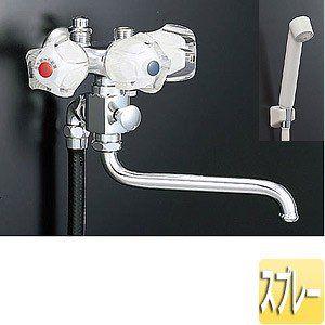 Lixil 浴室用蛇口 壁 シャワーバス水栓 スプレーシャワー 太陽熱