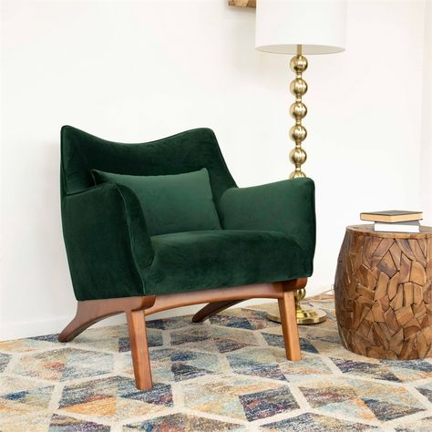 Mid Century Modern Living Room, Mid Century Modern Design, Mid Century Modern Chairs, Mid Century Interior Design, Mid Century Modern Dresser, Mid-century Interior, Mid Century Style, Mid Century Modern Furniture, Green Accent Chair