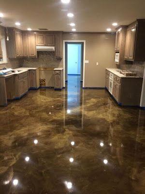 Decorative Metallic Epoxy Floor Paint Modern Home Flooring Designs