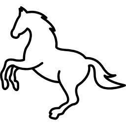 White Jumping Horse Outline Free Vector Icons Designed By Freepik Dibujos De Caballos Fiesta Con Tematica De Caballos