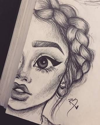 Image Result For Easy Black And White Drawings Tumblr Art Drawings Art Drawings Sketches Girl Drawing Sketches