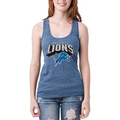 Women S 5th Ocean By New Era Heathered Royal Detroit Lions Screen Pass Tri Blend Racerback Tank Top Detroit Lions T Shirts Athletic Tank Tops Black Tank Tops