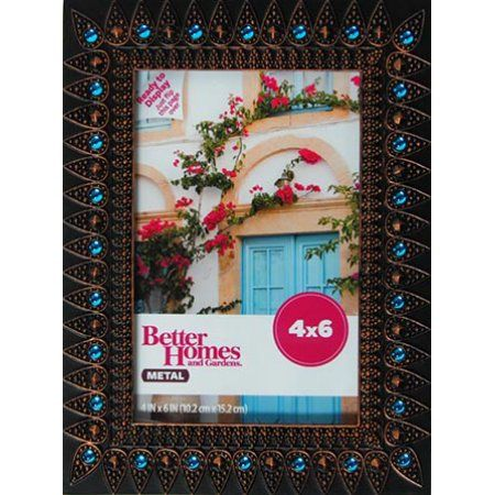 Better Homes And Gardens Jewel Accent Picture Frame Blue Better