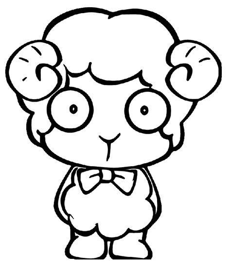 Koyun Keçi Boyama Sayfası Boyama Sayfasi