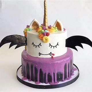 Surprising Vampire Unicorn Cake Repost Ghouliachilds Birthday Cards Printable Inklcafe Filternl