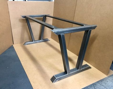 Modern Steel Base, Design Steel Table Legs + 2 Upper Cross Braces