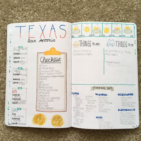 Traveling soon? Well make your life easier by creating a travel spread in your #bujo. Keep everything in one spot from your reservation numbers to your pre-travel checklist and your packing list. If you liked this spread, check out my instagram for more (@my_attempt_at_adulting)