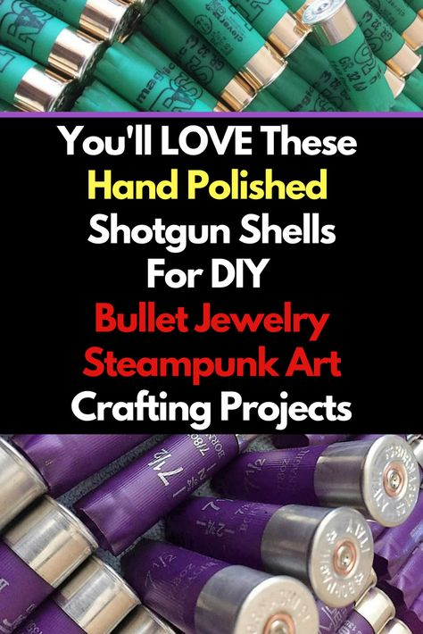 If you love bullet jewelry and ammo crafts - then you'll love all these hand polished shell casings and shotgun shells. Empty Bullet Casings, Brass Shells 223, Ammo, #Empty #Brass Rounds, DIY Jewelry Craft Making, #Steampunk Designs, Ammo Art Jewelry Sup