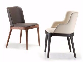 Upholstered Leather Chair Magda Cattelan Italia Dining Chairs