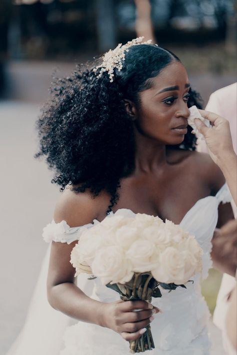 Wedding Goals, Dream Wedding, Wedding Beauty, Natural Wedding Hairstyles, African Wedding Hairstyles, Prom Hairstyles, Black Women Hairstyles, Natural Hair Wedding, Wedding Updo