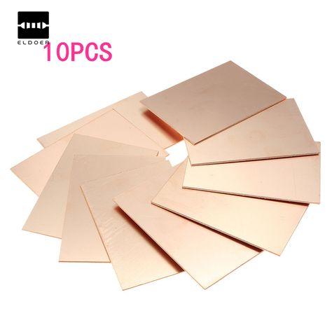 뜨거운 판매 최고의 가격 10 개/몫 FR4 PCB 단일 측면 구리 DIY PCB 키트 라미네이트 회로 보드 70x100x1.5 미리메터 무료 배송