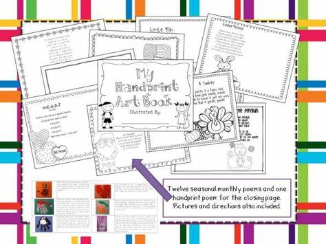 handprint art book - printable handprint calendar