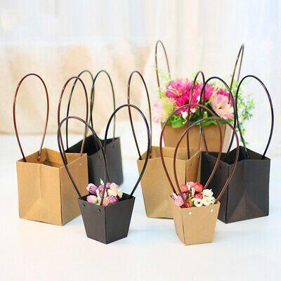Sponsored Link Kraft Paper Bag Flower Bouquet Basket Florist Gift
