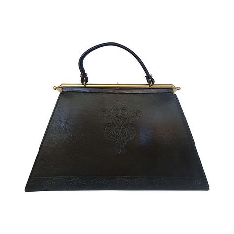 2eb15b500f 1960 s Trussardi Black Leather Trapezoid Handbag This is not from my  collection.But I believe the asking price is around  750.00