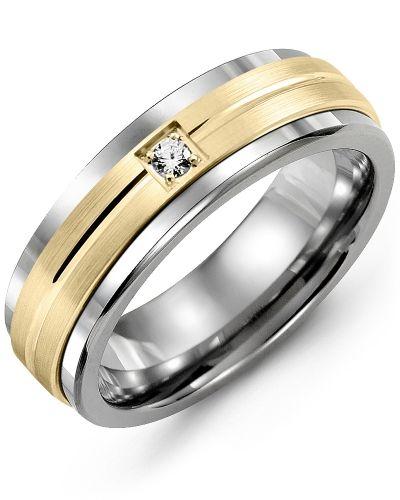 Men S Carved Line Pattern Diamond Wedding Ring Mens Wedding Rings Rings For Men Gold Wedding Rings