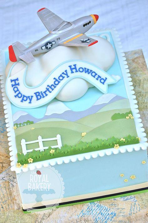 Cake with Airplane Theme