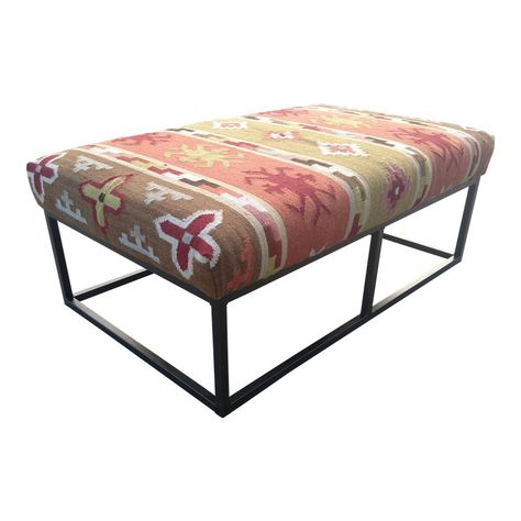 Strange 21St Century Vintage Ollie Kilim Ottoman Products In 2019 Ibusinesslaw Wood Chair Design Ideas Ibusinesslaworg