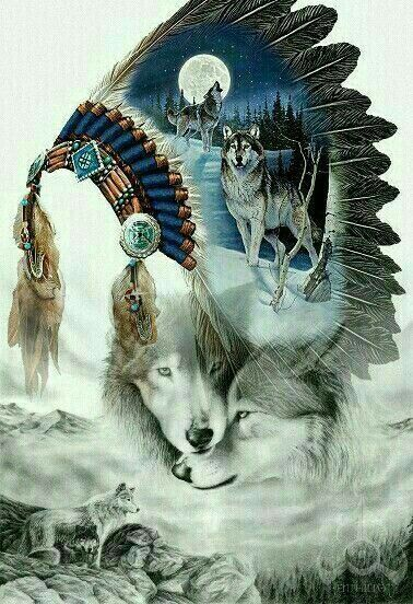 Native American Wolf Native American Artwork Native American Wallpaper