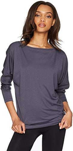 kensie Womens French Terry Cold Shoulder Sweatshirt with Lace Sleeves