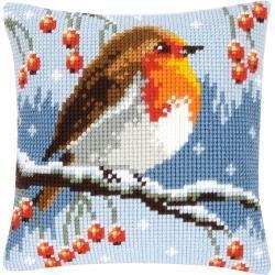 Bestickte Kissen Stickkissen Weihnachten Kreuzstich