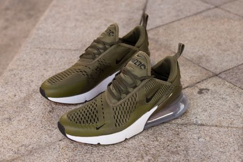 online store 38a31 84463 Nike Air Max 270 AH8050-201 Green Sneaker for Sale-02 As you can see they  feature Olive across the uppers while accents of Black are used.