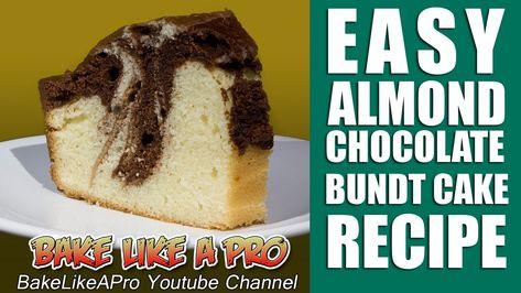 EASY Almond Chocolate Marble Bundt Cake Recipe