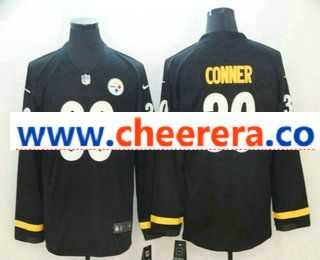 new style 12ccc df2cb Men's Pittsburgh Steelers #30 James Conner Nike Black Therma ...