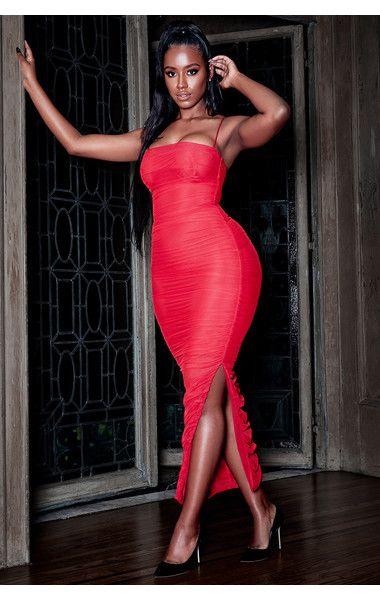 f44b329b3c Clothing : Max Dresses : 'Fornarina' Red Organza Mesh Maxi Dress ...